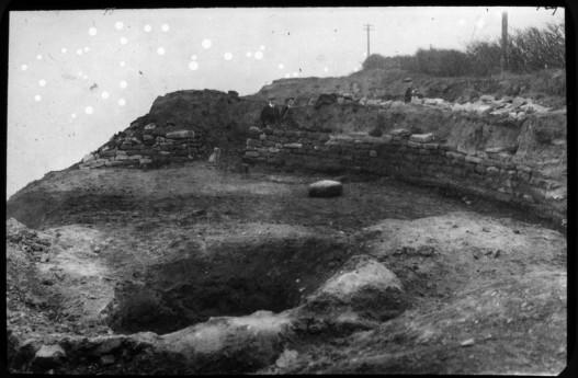 Hunt cliff: Excavations in Progress